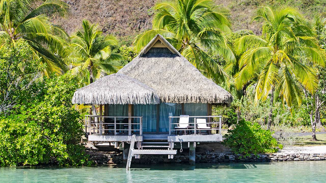 Cottage with Palm Trees